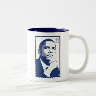 President Barack Obama 44 USA Stamp Mug