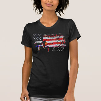 President Barack Obama American Flag 2012 T-Shirt
