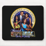 PRESIDENT BARACK OBAMA AND FAMILY MOUSE PADS