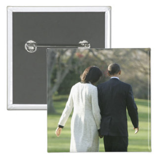 President Barack Obama and First Lady Michelle 15 Cm Square Badge