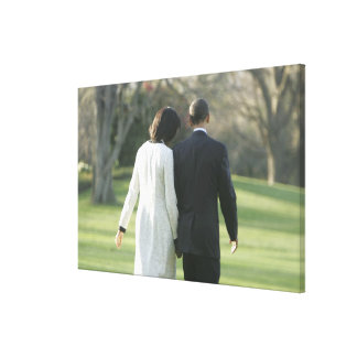 President Barack Obama and First Lady Michelle Canvas Print