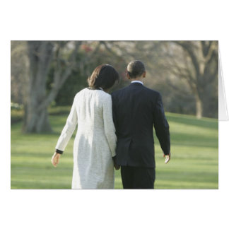 President Barack Obama and First Lady Michelle Card