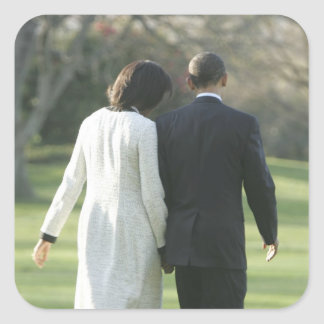 President Barack Obama and First Lady Michelle Square Sticker
