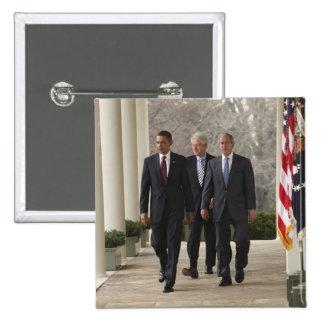 President Barack Obama and former presidents 15 Cm Square Badge