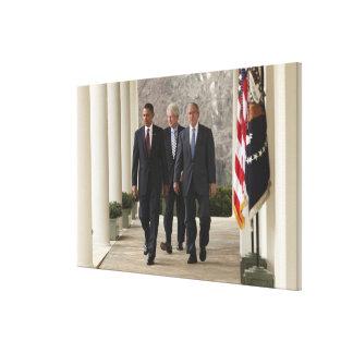 President Barack Obama and former presidents Canvas Print