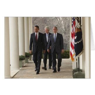 President Barack Obama and former presidents Greeting Card