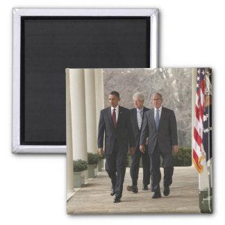 President Barack Obama and former presidents Fridge Magnet