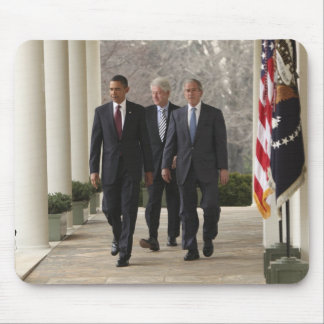 President Barack Obama and former presidents Mouse Pad