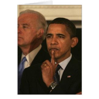 President Barack Obama and Vice President Card