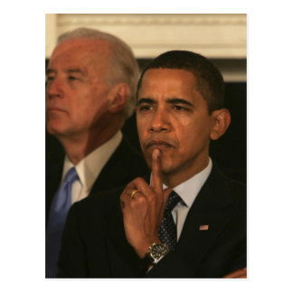 President Barack Obama and Vice President Postcard