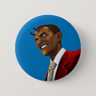 President Barack Obama as the Devil Halloween 6 Cm Round Badge