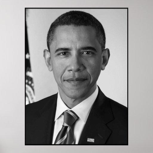 President Barack Obama -- Black and White Poster