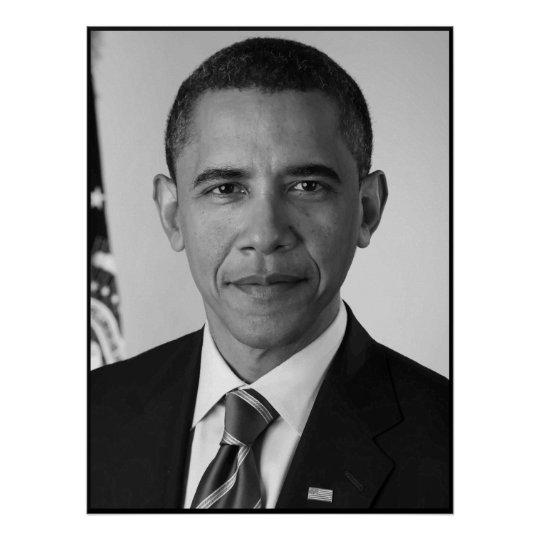 President Barack Obama -- Black and White Poster