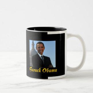 President Barack Obama (black mug) Two-Tone Mug