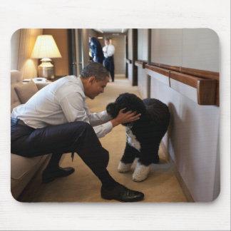 President Barack Obama & Bo Mouse Pad