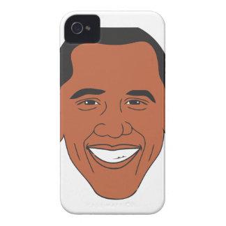 President Barack Obama Cartoon Face iPhone 4 Covers