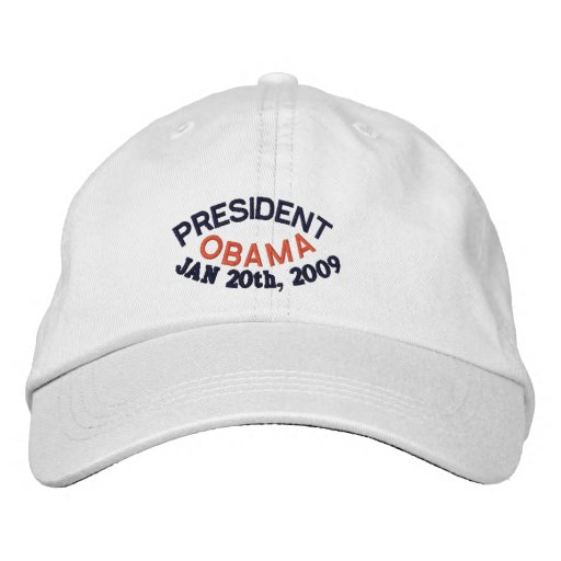 PRESIDENT BARACK OBAMA INAUGURATION EMBROIDERED HATS