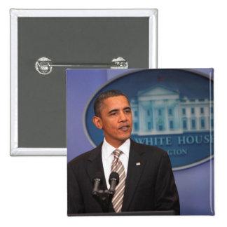 President Barack Obama makes an announcement Button