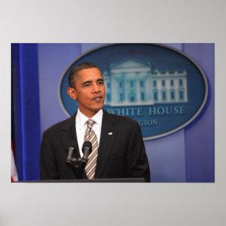 President Barack Obama makes an announcement Poster