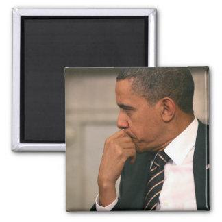 President Barack Obama meets with President Square Magnet