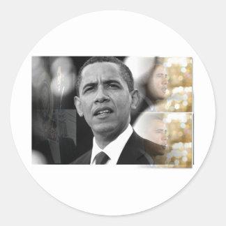 President Barack Obama Round Sticker