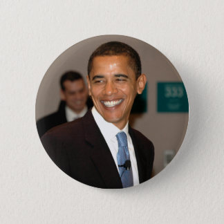President Barack Obama Smiles 6 Cm Round Badge