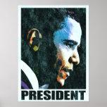 President Barack Obama Vintage Poster