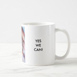 PRESIDENT BARACK OBAMA, YESWE CAN! COFFEE MUG