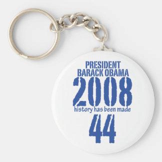 president basic round button key ring