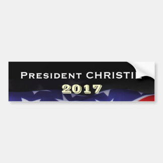 President CHRISTIE 2017 Bumper Sticker