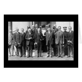 President Coolidge and Herbert Hoover 1923 Greeting Card