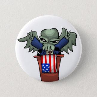 President Cthulhu 6 Cm Round Badge