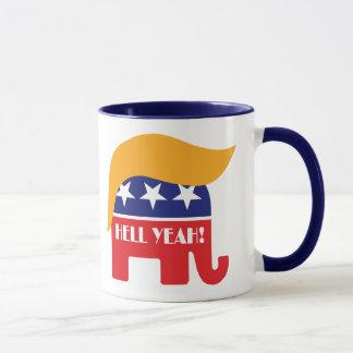President Donald Trump 45 Elephant Hair Hell Yeah Mug