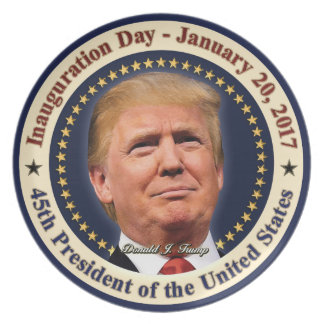 President Donald Trump Inauguration Day Souvenir Plate