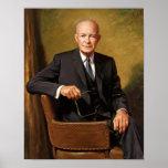 President Eisenhower Painting Poster