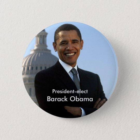 President Elect - Barack Obama Buton 6 Cm Round Badge