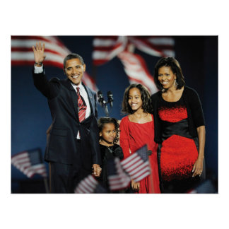 President-Elect Obama & Family Print