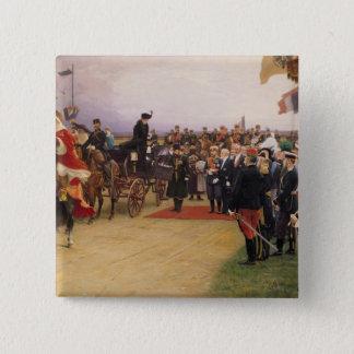 President Emile Loubet 15 Cm Square Badge