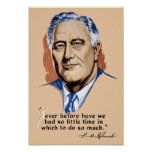 President Franklin Roosevelt and Quote -- WWII