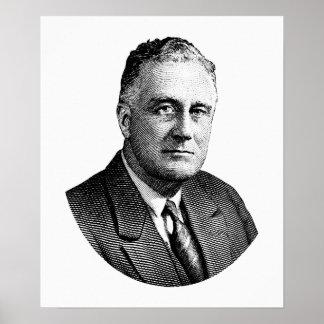 President Franklin Roosevelt Graphic Poster