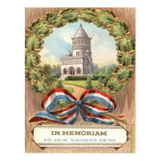 President Garfield's Tomb Wreath Postcard