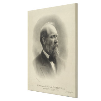 PRESIDENT GENERAL JAMES A. GARFIELD Portrait Canvas Prints