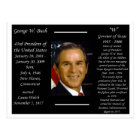 President George W Bush Postcard