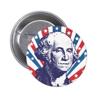 president George Washington 6 Cm Round Badge