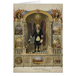 President George Washington as a Freemason Greeting Card