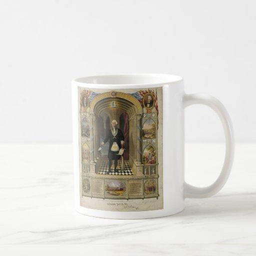 President George Washington as a Freemason Coffee Mugs