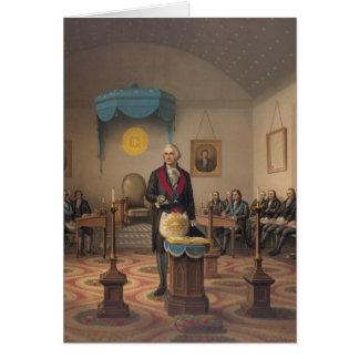 President George Washington as a Master Mason Greeting Card