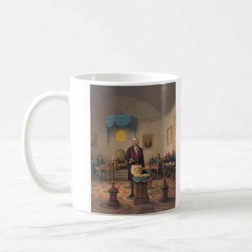 President George Washington as a Master Mason Coffee Mugs