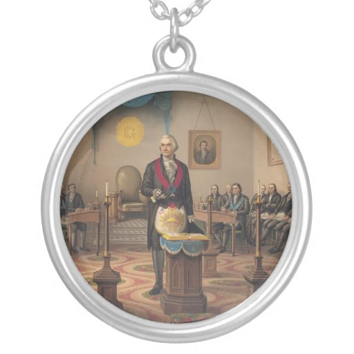President George Washington as a Master Mason Necklace