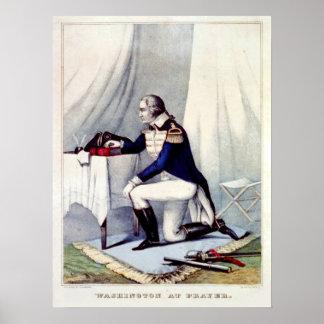 President George Washington at Prayer Poster